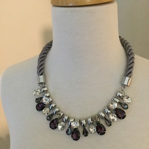 Chico's Amethyst and Rhinestone Necklace NWOT